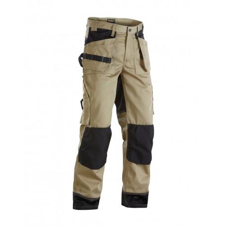 Pantalon artisan bicolore Blaklader beige/noir