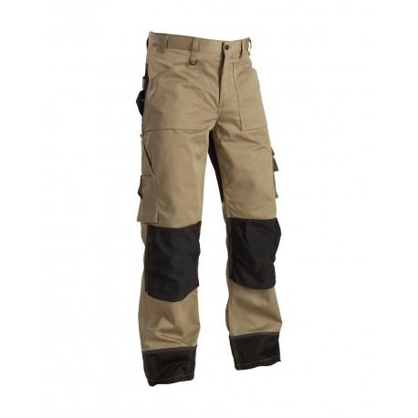 Pantalon artisan bicolore beige/noir Blaklader