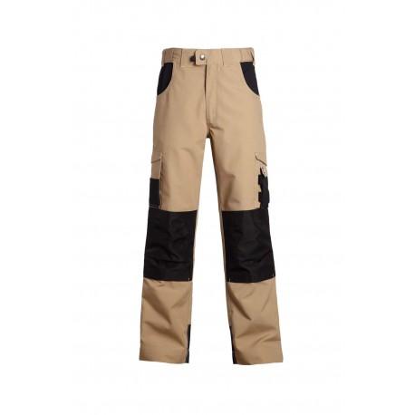 Pantalon de travail ADAM beige noir
