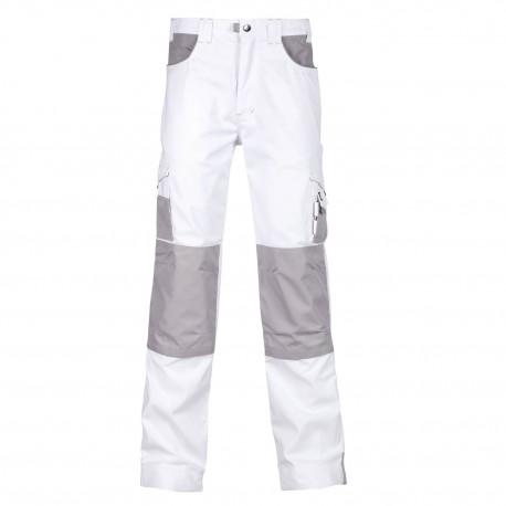 Pantalon de travail ALBATRE blanc - gris