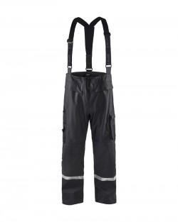 Pantalon de pluie à bretelles Blaklader noir