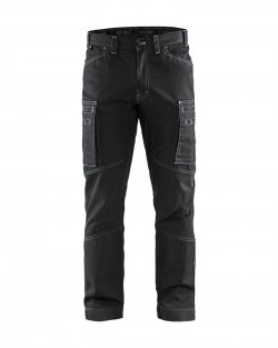 Pantalon services denim stretch