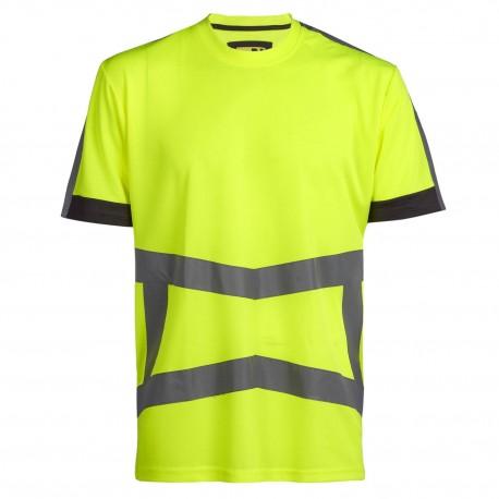 T-shirt haute visibilité ARMSTRONG JAUNE FLUO