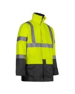"""Veste de pluie haute visibilité North Ways """"Bandit"""" jaune fluo"""