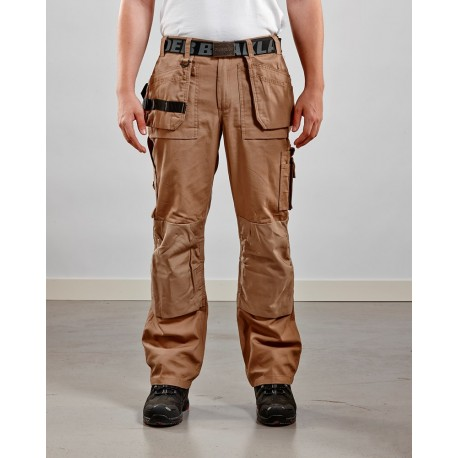 Pantalon Artisan poches libres beige antique