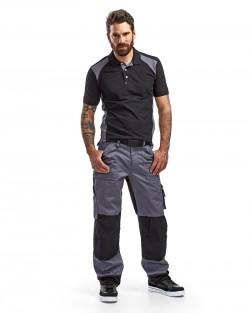 Pantalon artisan bicolore gris/noir