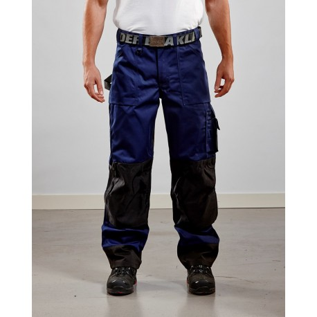 Pantalon artisan bicolore marine/noir