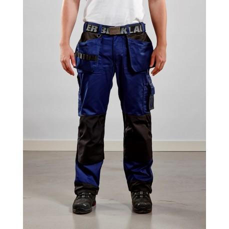 Pantalon artisan bicolore poches libres marine/noir