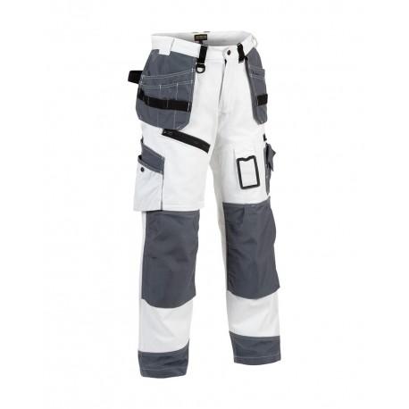 Pantalon X1500 peintre blanc/gris
