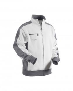 Sweatshirt peintre-platrier-plaquiste blanc/gris