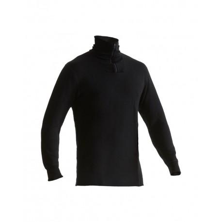 Haut de sous-vêtements col zippé XWARM noir
