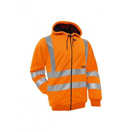 Sweat à capuche haute visibilité orange