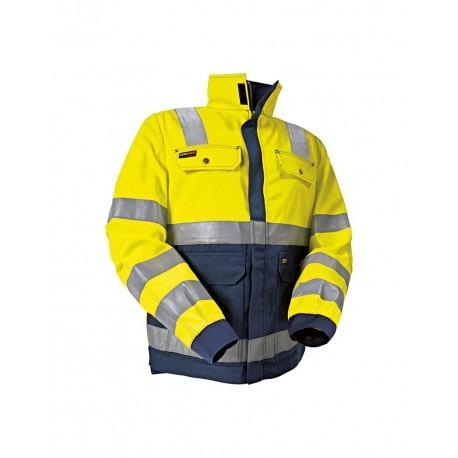 Veste haute visibilité femme jaune/marine
