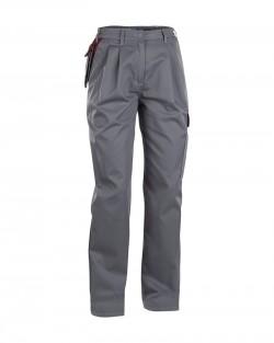 Pantalon femme gris/bordeaux