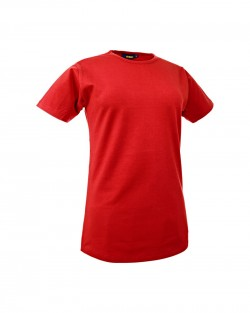 T-Shirt femme col rond rouge