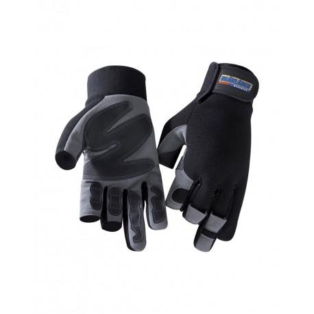 Gants Blaklader Mitaine 3 doigts noir/gris