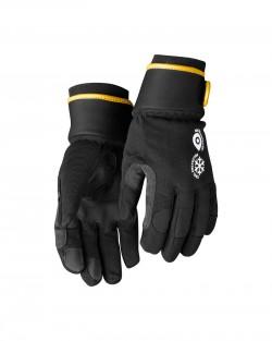 Gants hiver cuir synthétique noir/gris