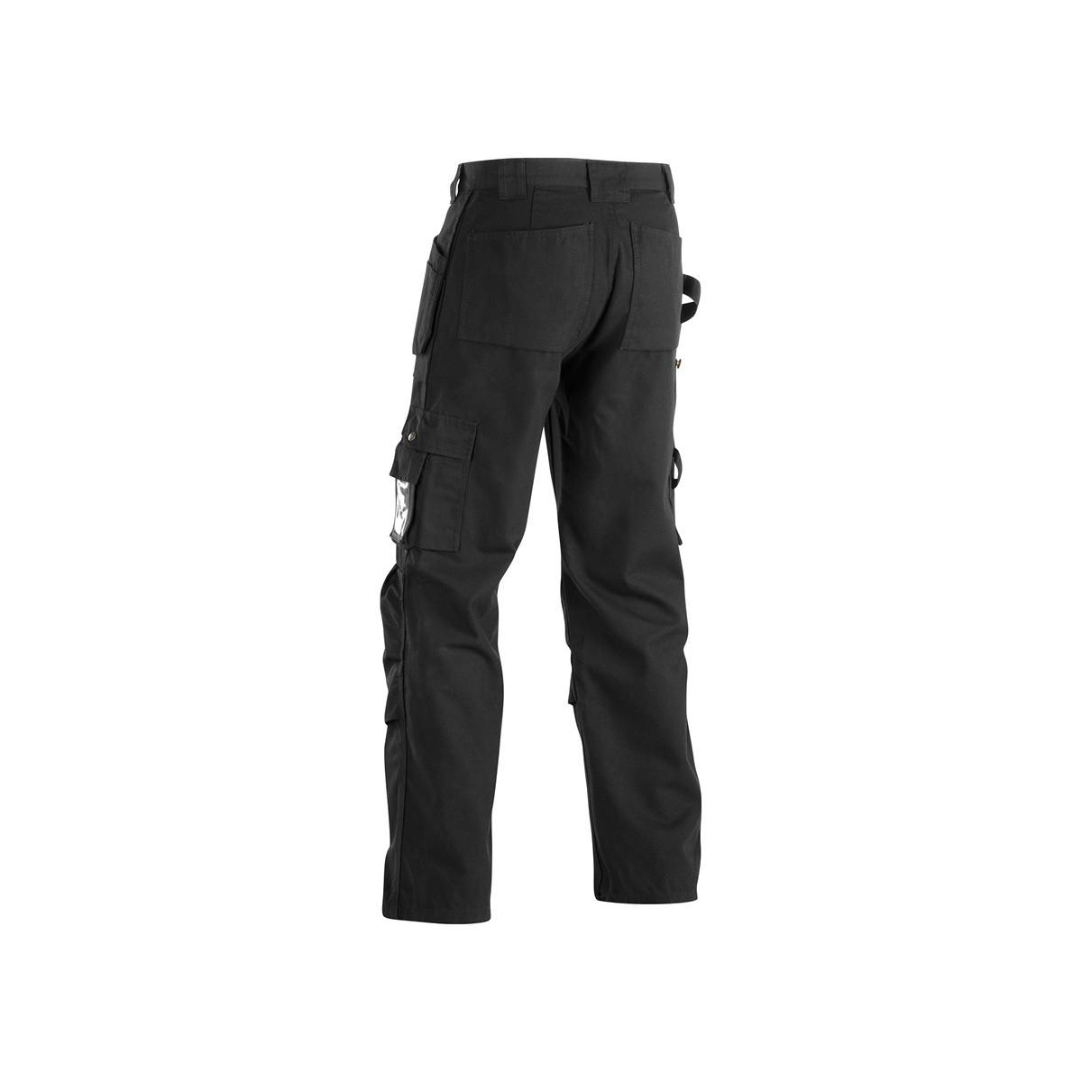 pantalon de travail artisan poches libres noir. Black Bedroom Furniture Sets. Home Design Ideas