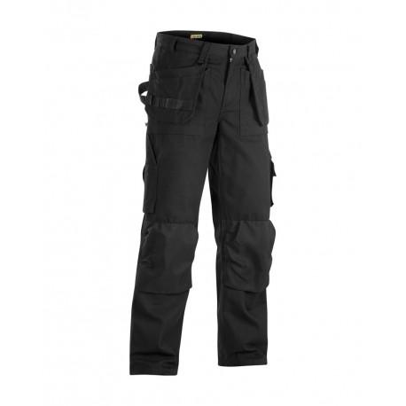Pantalon de travail artisan poches libres noir