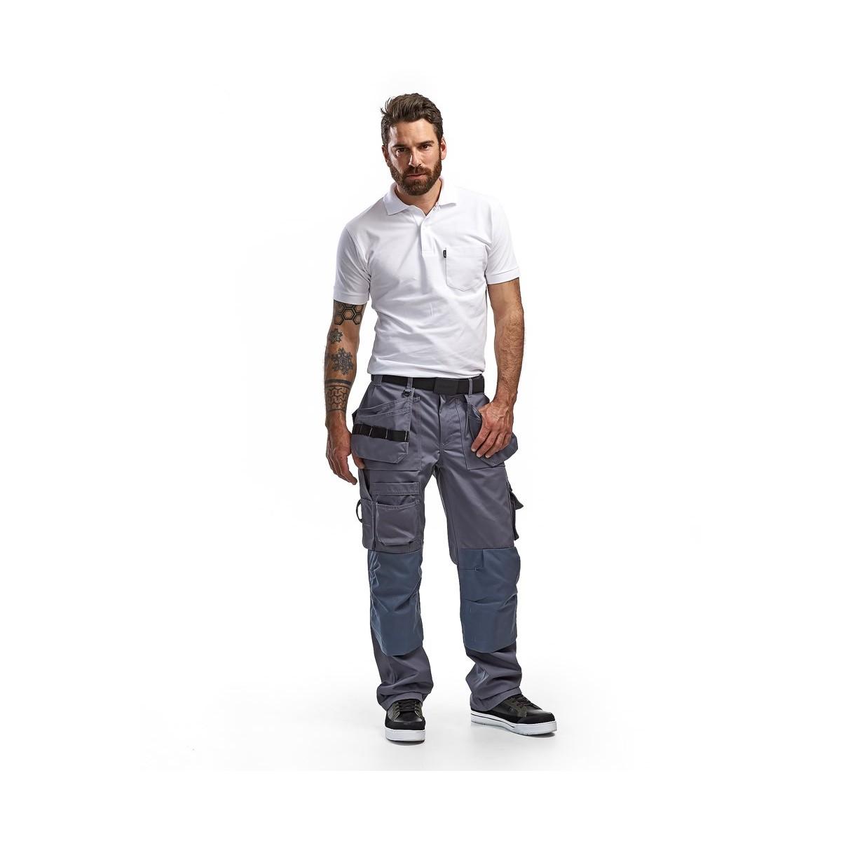 pantalon de travail artisan gris poches libres. Black Bedroom Furniture Sets. Home Design Ideas