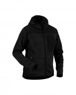 Veste tricotée à capuche Gris anthracite/Noir