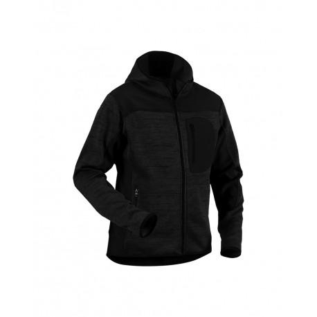 Veste Blaklader tricotée à capuche Gris anthracite/Noir
