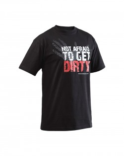 T-shirt Blaklader Not Afraid To Get Dirty noir