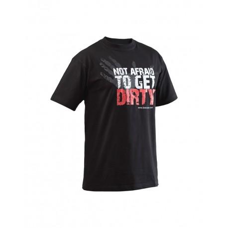 T-shirt Blaklader Not Afraid To Get Dirty noir