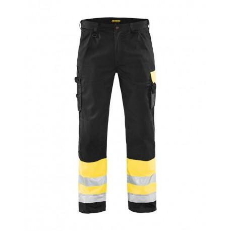 Pantalon haute visibilité Blaklader jaune/noir