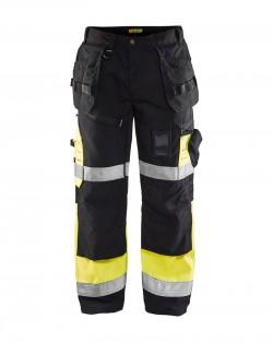 Pantalon X1500 haute visibilité Blaklader noir/jaune