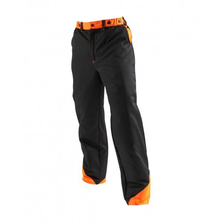 Pantalon protection tronçonneuse Blaklader noir/orange