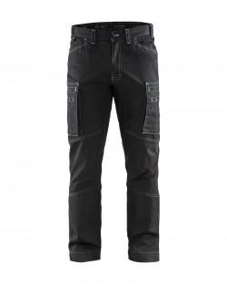 Pantalon services denim stretch noir