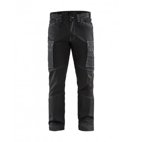 Pantalon services denim stretch noir