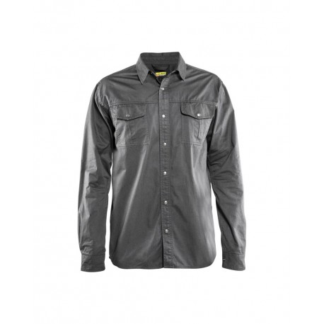 Chemise Twill Gris