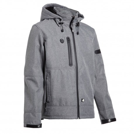 Veste softshell North Ways FLORES 1133 gris chiné