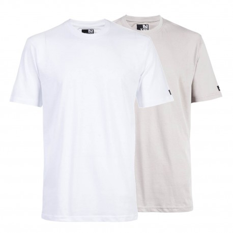 Pack de 2 tee-shirts North Ways RACING blanc perle