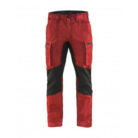 Pantalon services stretch Blåkläder Rouge/Noir