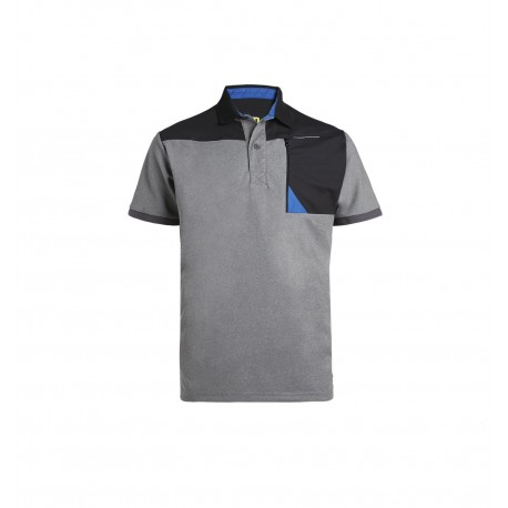 Polo homme Horten North Ways Noir gris chine