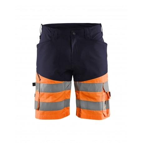 Short haute-visibilité +stretch Blaklader marine/orange