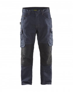 Pantalon Services Denim Stretch 2D - marine/noir
