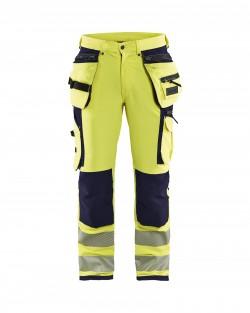 Pantalon stretch 4D Haute-visibilité Blaklader marine
