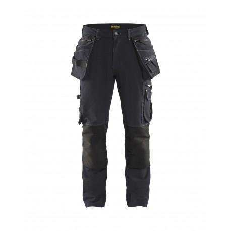 gris-noir Pantalon X1900 artisan stretch 4D