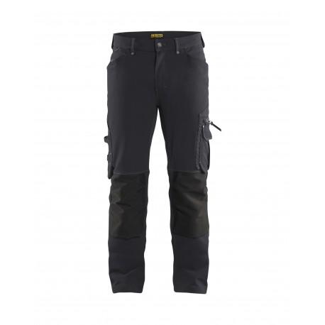 gris-noir Pantalon Blaklader X1900 artisan stretch 4D sans poches flottantes