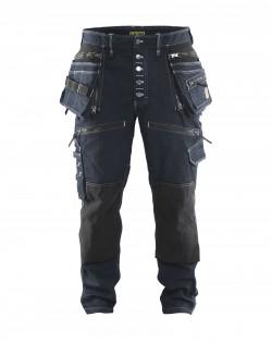 marine-noir Pantalon X1900 artisan CORDURA® DENIM stretch 2D