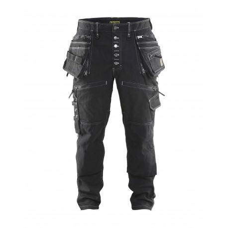 noir Pantalon X1900 artisan CORDURA® DENIM stretch 2D