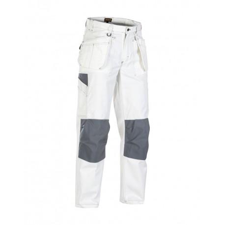 Pantalon peintre blanc