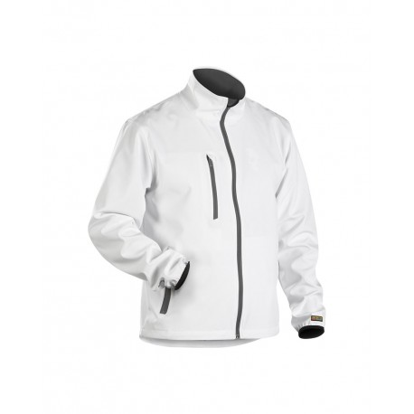 Veste Softshell légère blanc/gris