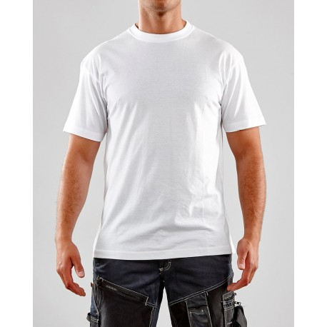 Pack x5 T-Shirts col rond blanc