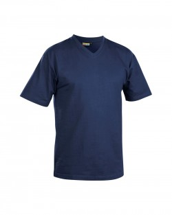 T-Shirt col V marine
