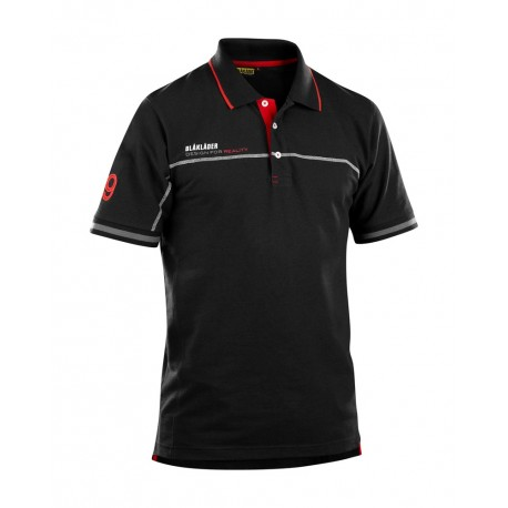 """Le"" Polo Blaklader noir/rouge"
